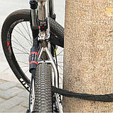 Велозамок-цепь противоугонный,трос кодовый,цепной замок в текстиле, фото 9