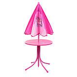 Детский садовый столик со стульчиками и зонтиком BambiUNI, фото 4