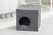 Домик для животных без подушки Digitalwool Куб 40 х 40 х 40 см Серый (DW-92-13)