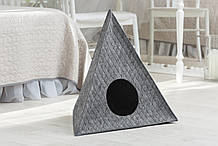 Домик для животных с подушкой Digitalwool Пирамида 56 х 60 х 66 см Серый (DW-92-07)