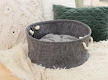 Корзина-лежак для животных Digitalwool с подушкой Серый (DW-91-05)