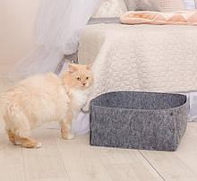 Корзина-лежак для животных Digitalwool на кнопках с подушкой Серый (DW-92-06)