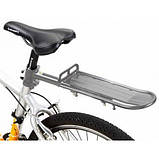 Вело Багажник консольный задний АЛЮМИНИЙ 20-29 крепление за трубу сидения,Багажник велосипедный консольный, фото 2