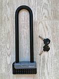 Велозамок U-подібний Tonyon TY339D, юлок, u-lock, протиугінний замок скоба, фото 3