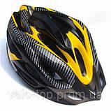Шлем Soldler со стопом,велошлем со стоп-сигналом,вело шолом,велосипедний шолом,размер регулируется 52-64 см, фото 2
