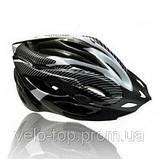 Шлем Soldler со стопом,велошлем со стоп-сигналом,вело шолом,велосипедний шолом,размер регулируется 52-64 см, фото 3