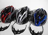 Шлем Soldler со стопом,велошлем со стоп-сигналом,вело шолом,велосипедний шолом,размер регулируется 52-64 см, фото 4