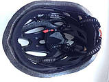 Шлем Soldler со стопом,велошлем со стоп-сигналом,вело шолом,велосипедний шолом,размер регулируется 52-64 см, фото 5
