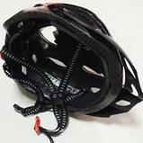 Шлем Soldler со стопом,велошлем со стоп-сигналом,вело шолом,велосипедний шолом,размер регулируется 52-64 см, фото 6