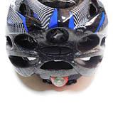Шлем Soldler со стопом,велошлем со стоп-сигналом,вело шолом,велосипедний шолом,размер регулируется 52-64 см, фото 7