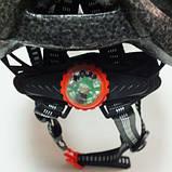 Шлем Soldler со стопом,велошлем со стоп-сигналом,вело шолом,велосипедний шолом,размер регулируется 52-64 см, фото 8