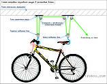 Стельове кріплення, підвісний кронштейн для велосипеда, фото 6
