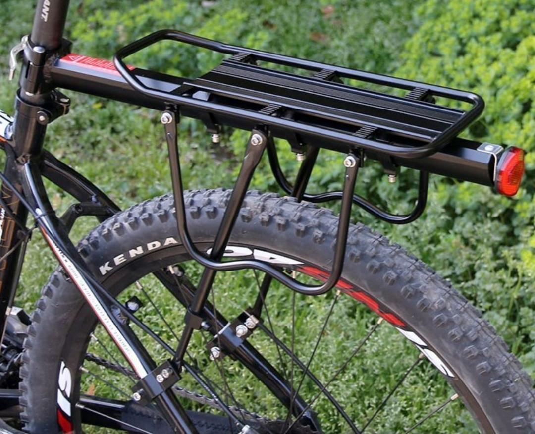 Велобагажник консольный универсальный 20-29 алюминий,Задний консольный велосипедный багажник