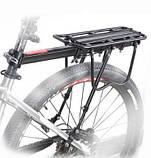 Универсальный консольный велобагажник для велосипеда 20-29 алюминий, фото 2