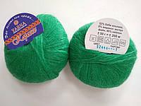 Пряжа для вязания YARNA Каресс зеленый 52444