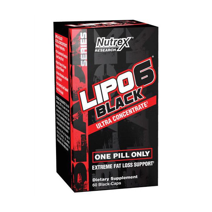 Жіросжігателя для зниження ваги Nutrex Lipo-6 Black Ultra (60 caps)