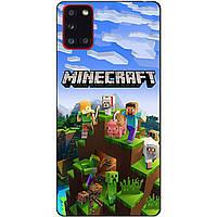 Силиконовый бампер чехол для Samsung A31 с рисунком Minecraft