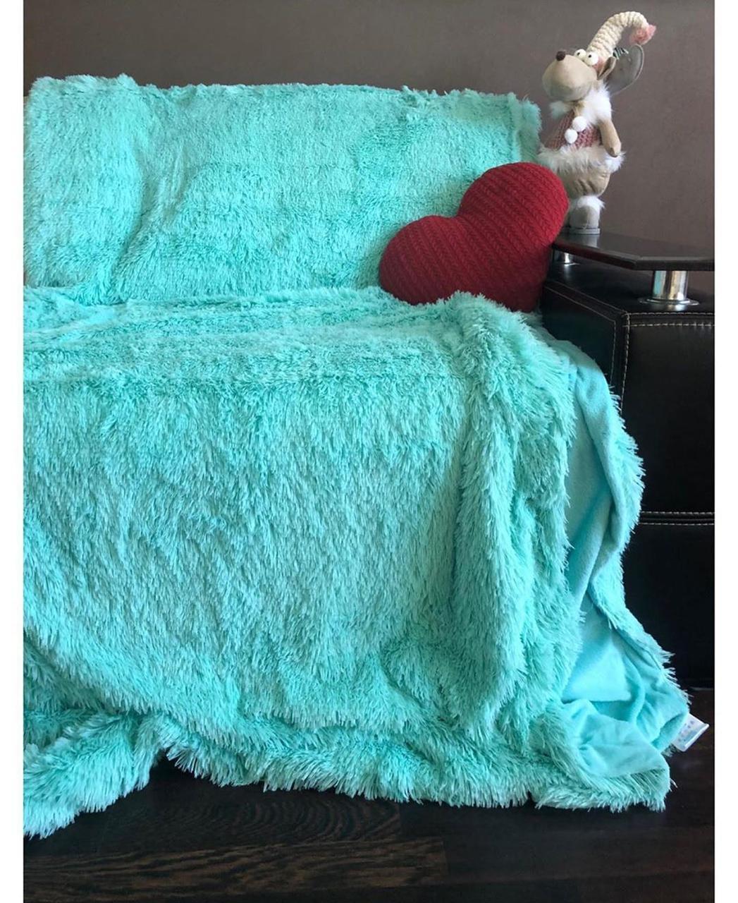 Плюшевый плед-травка, 220х240, на евро кровать