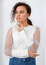 """Стильная блузка с пышными рукавами """"Bailey"""", фото 2"""