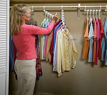 Универсальная вешалка-органайзер для одежды Wonder Hangers Набор 8 шт Белая, фото 2