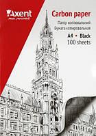 Копирка Axent А4 100 листов, черная.