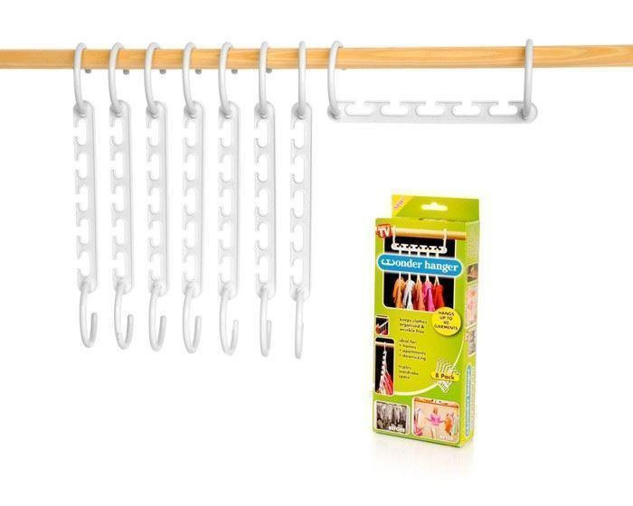 Универсальная вешалка-органайзер для одежды Wonder Hangers Набор 8 шт Белая