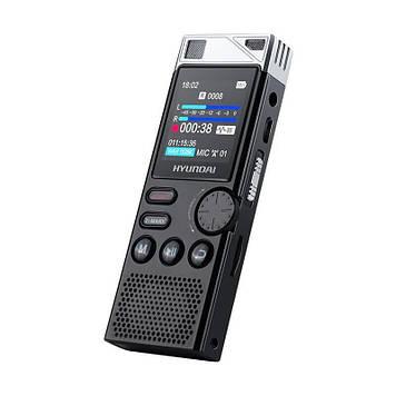 Диктофон професійний стерео Hyundai E-750 16 Гб VOX датчик голоси (03004)