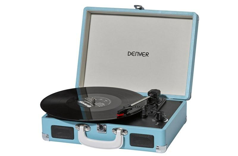 Грамофон, програвач вінілових дисків Denver VPL-120 Brown 3-швидкісний зі стереодинаміками,