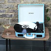 Грамофон, програвач вінілових дисків Denver VPL-120 Brown 3-швидкісний зі стереодинаміками,, фото 3