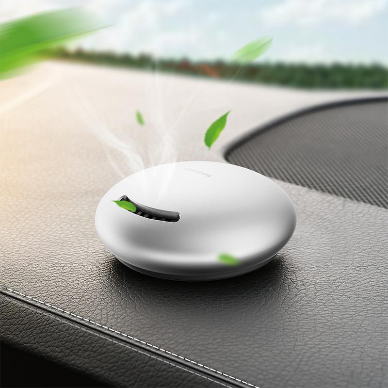 Автомобильный ароматизатор Baseus Smile, освежитель салона авто и дома Серебряный/Черный SUXUN-WX