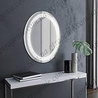 Зеркало настенное с LED подсветкой 600х800 овальное   овальне дзеркало в ванну з підсвіткою