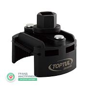 """Знімач масляного фільтра універсальний 60-80 мм 1/2"""" або під ключ 21 мм TOPTUL JDCA0108"""