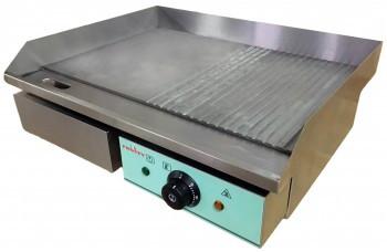 Фото Поверхность жарочная гладкая+ребро электрическая из нержавеющей стали Frosty EGD-06A