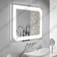 Зеркало для ванной с LED подсветкой 5 Вт 800х600 | дзеркало в ванну з підсвіткою