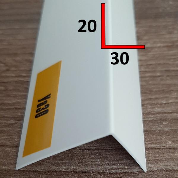 Профиль угловой отделочный из ПВХ 20х30, 2,7 м