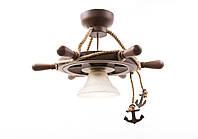 Люстра штурвал деревянная на 1 лампочку