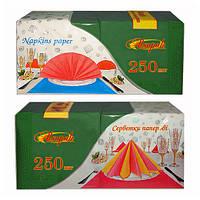 Салфетки АЛСУ-ПАК бумажные зеленые, двухслойные, 33х33 см, 250 шт.