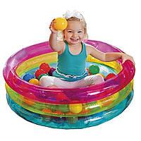 Детский надувной бассейн с мячиками., фото 1