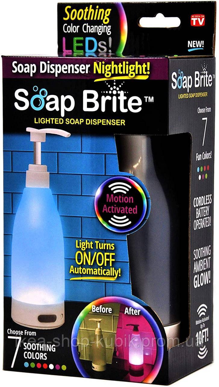 Дозатор для мила Brite SOAP-MC6 зі світлодіодним підсвічуванням,