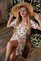 Женское летнее платье из коттона Разные цвета, 46-48