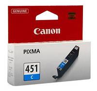 Чернильница Canon CLI-451C (Cyan) PIXMA MG5440/MG6340, 6524B001