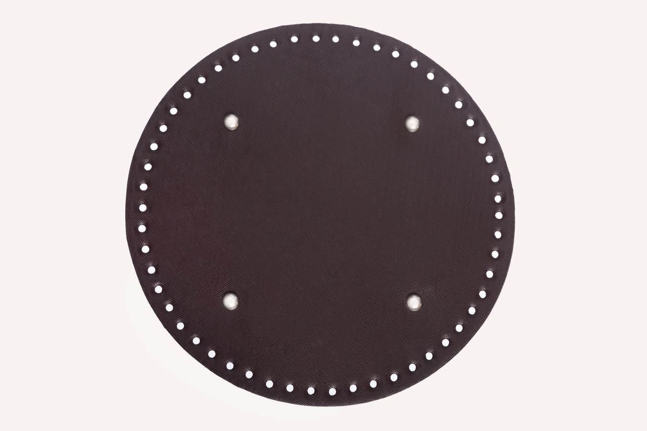 АКЦІЯ кругле Денце для сумки екокожа Шоколад Ø 25 см з ніжками
