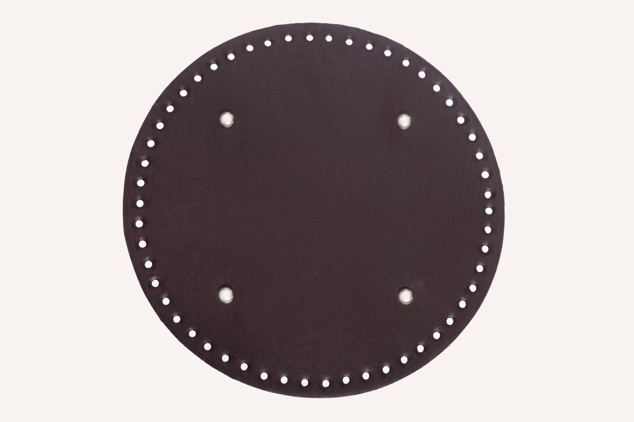 НЕЛИКВИД Донышко круглое для сумки экокожа Шоколад Ø 25 см с ножками