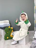 """Детский махровый халат TINO BABY """"Динозаврик"""", размер"""