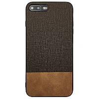 Чехол-накладка DK-Case Fabric Leather Gentleman для Apple iPhone 7   8 Plus Коричневый 07648-747, КОД: 1694753