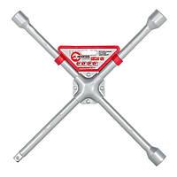 Ключ баллонный крестовой 16 x 406 мм, D=16 мм, 17; 19; 21; 1/2 профессионал INTERTOOL HT-1603, фото 1