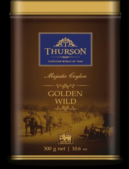 Чай черный Thurson Golden Wild OPA листовой крупнолистовой цейлонский 300 грамм в жестяной банке