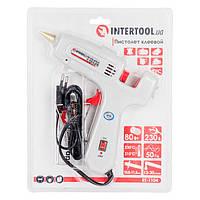 Intertool RT-1104 Пистолет клеевой 80(245)Вт, 230В, 215-230°C под стержни 10.8-11.5мм, 13-30 г/мин., выключатель
