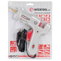 Intertool RT-1105 Пистолет клеевой 90(290)Вт, 230В,215-230°C под стержни 10.8-11.5мм, 13-30 г/мин., удлин. сопло, выключатель