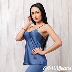 Майка женская шелковая New Fashion SA-100jeans